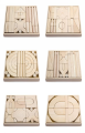 **NEW** VIGA TOYS -  BEECH WOOD BLOCK 6 TRAYS SET