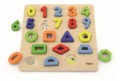 **NEW**VIGA TOYS - BLOCK NUMBER & SHAPE PUZZLE